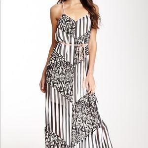 Black and White Drew Maxi Dress